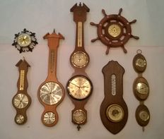 Large collection of Barometers with Hygrometers and Thermometers - 2nd half of last century