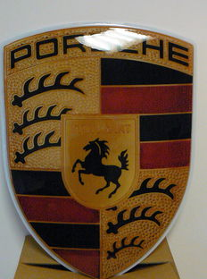 Original Porsche sign - 100 x 72 cm
