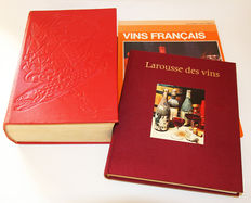 Lot of 3 books on French culinary art and wine - 1950/1972