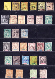 Guadeloupe 1884/1947 – Collection between Yvert no. 2 and 213 including complete series, Airmail and postage due.