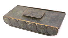 Jewish bronze box - (Tel Aviv) Israel between 1939 and 1956
