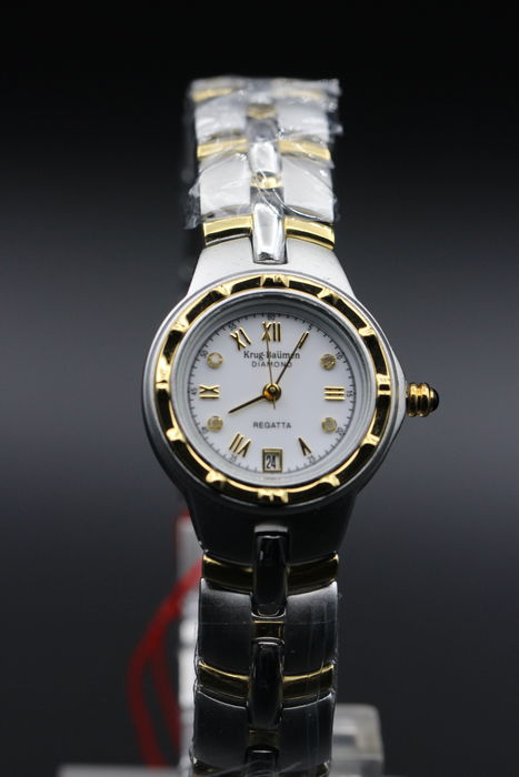 Krug Baumen Regatta Diamond – women's wristwatch, never worn.