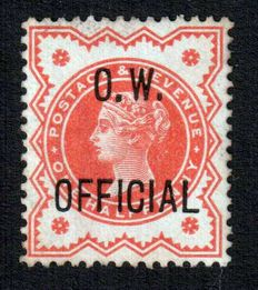 Great Britain 1896 - 1/2d and 1d O.W. Official – Stanley Gibbons O31, O33/Scott O44, O45.