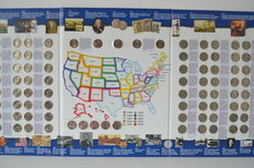 "United States – 25 cents (quarters) 1999/2008 ""The 50 State Quarters"" (106 pieces)"