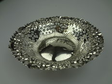 Silver chocolate tray, England, Chester, 1902