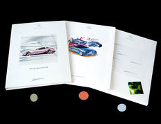 """MB-press kits: """"1999 Vision SLR"""" - """"1996 F 200 coupé study"""" - """"2003 Enviromental motoring"""". The media texts all in english plus fine 18x24 cm colour pictures"""