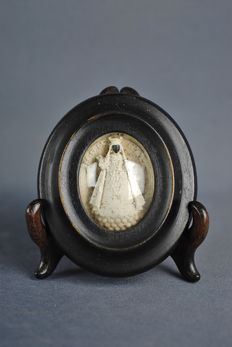Black Madonna Ex voto in Meerschaum - France - ca. 1870