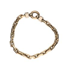 Yellow gold bracelet with anchor links