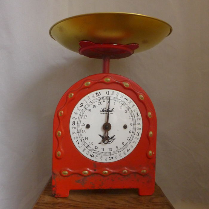 Old Soehnle Kitchen Weighing Scale Up To 10 Kg   Metal Copper