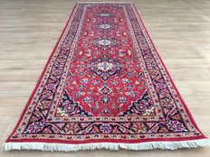 Clean KESCHAN runner with certificate of authenticity - approx. 298 x 104 cm - top condition