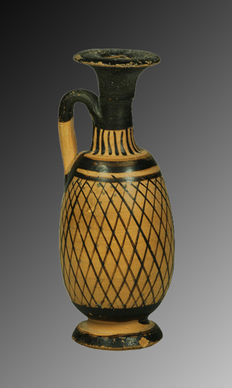 Greek pottery Lekythos - 12 cm
