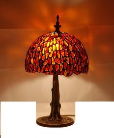 Polish handmade big Natural Baltic Amber lamp