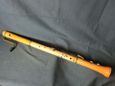 Wooden bass recorder by Roessler, Germany
