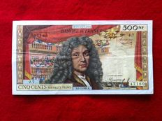 France - 500 Nouveaux Francs - 5.1.1961 - 'The Opera House' note - Pick 145a - Fayette 60.3