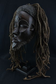 African ceremonial mask - CHOKWE - D.R Congo