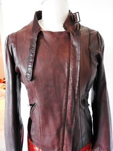 IKKS 100% Lambskin Leather Jacket.