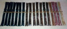 18 crocodile skin women's watchstraps by Pier Marin probably for Van Cleef.