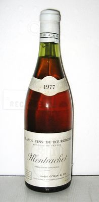1977 Montrachet Grand Cru, Domaine André Colin & Fils, 1 bottle.