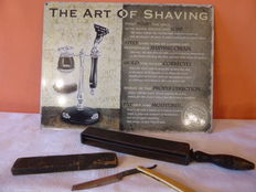 The art of shaving, Museum quality attributes, various materials