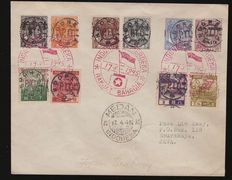 China, Japan and Japanese mail in China and Indonesia - small batch, including Michel No. 245 - cut