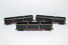 Märklin H0 - 47090 - Three-piece unit of container wagons Sngss with WoodTainer XXL-containers