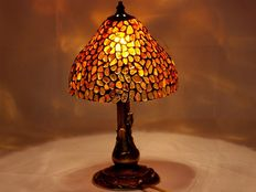 Polish handmade natural Baltic Amber lamp
