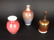 Han Boerrigter - lot with 3 small vases