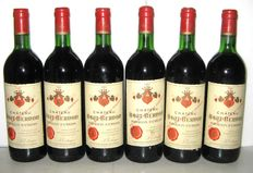 1982 Lot of six bottles of Puisseguin Saint-Emilion Château Haut-Bernon