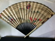 Hand-painted fan – Japan – Early 20th century