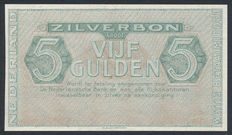 Netherlands - 5 Gulden 1944 - Zilverbon - Proof - without number and signature - NVMH 22