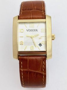 Vendoux - Women's wristwatch - Square gold (gold-plated) case, white dial