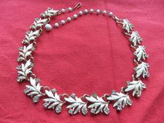 Coro – Authentic designer necklace with enamels.