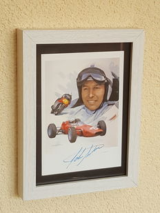 John Surtees - Formula 1 and 500 CC World Champion - original autographed official framed Photo 1 + COA.