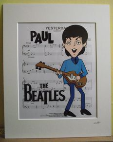 Paul McCartney/ The Beatles - 1965 Cartoon  - Hand Drawn & Hand Painted Cell.