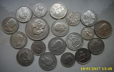 World - 22 silver coins