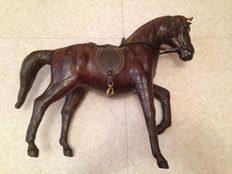 Beautiful  large leather horse