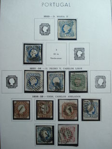 Portugal 1853/ 1938:  Collection of stamps