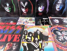 Lot of eleven great albums of Kiss.