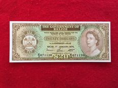 Belize - 20 Dollars 1.1.1976 - QEII - Pick 37c