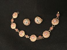 Italian micro mosaic jewels, bracelet and earrings