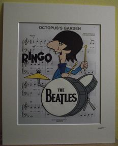 Ringo Star/ The Beatles - 1965 Cartoon  - Hand Drawn & Hand Painted Cell.