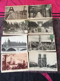 France-1900/1950 - 199 postcards of cities and regions in France and some portraits