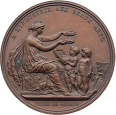 Switzerland - Bronze Medal 1900 by A. Bovy A L'industrie, Aux Braux Arts