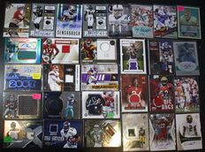 American Footbal - Nice collection of 29 autograph/jersey cards - 1995/2014.