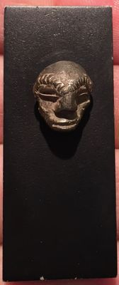 Rare ancient bronze weight in the shape of a head - BAULE - Ivory Coast