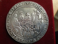 'what God has connected, man will not separate' - Silver wedding coin - 17th/18th century