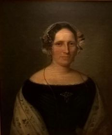 Anonymous from XIX century - Half-length portrait of a noblewoman