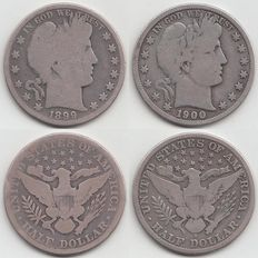 United States – Half Dollar 1899,  and 1900s (Barber) – silver