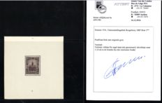 Belgium 1936 - Flawed cut block Borgerhout with photo certificate - OPB 5
