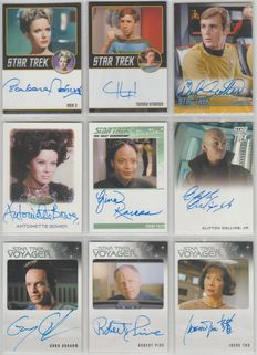 Star Trek - Rittenhouse - 9x official authentic autograph cards - TOS, TNG, Voyager, movie